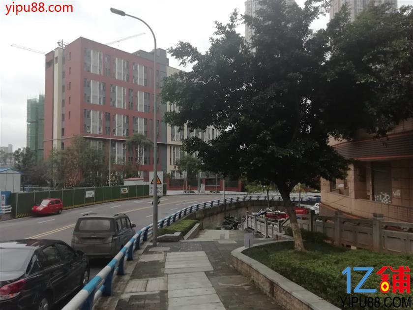 江北学校对面 成熟社区临街餐饮门面转让