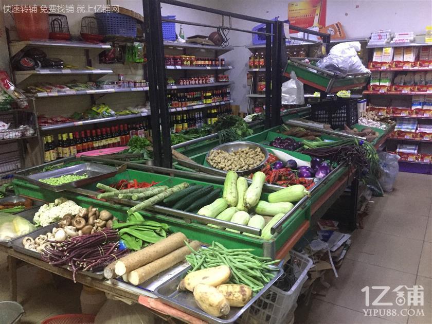 大型成熟小区165平超市门面转让!