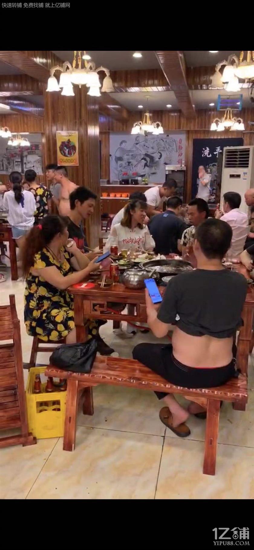 三叉路口+水电气三通245㎡餐饮门面转让!!!