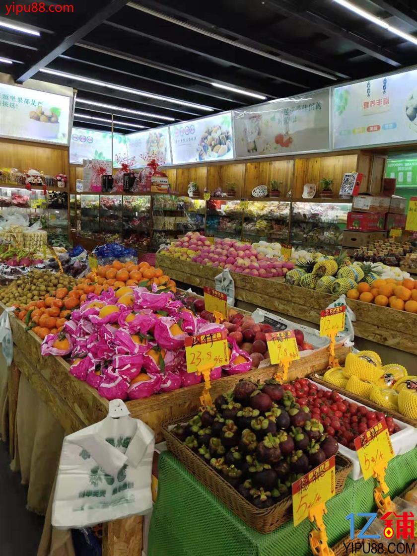 成熟小区出入口105㎡临街水果店优价转让