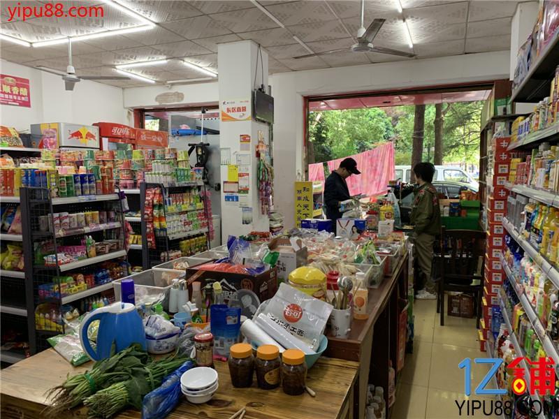 小区出入口转角双门头90㎡超市转让(可空转)