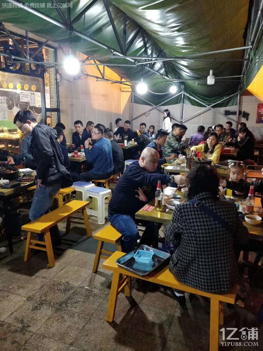 大坪三通187m餐饮店转让(可外摆)