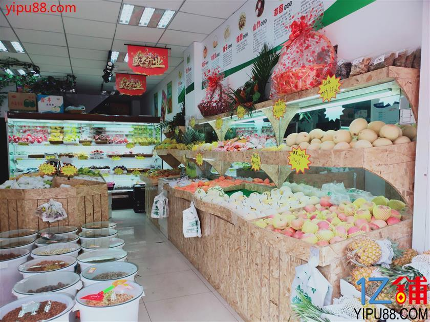 低价急转成熟高档小区出入口80㎡水果店
