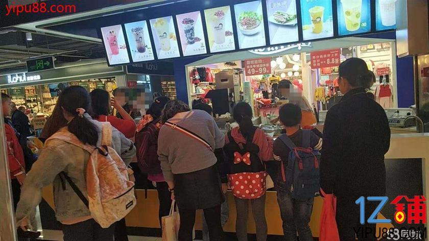 大型超市入口27㎡盈利街吧4万转让!!!