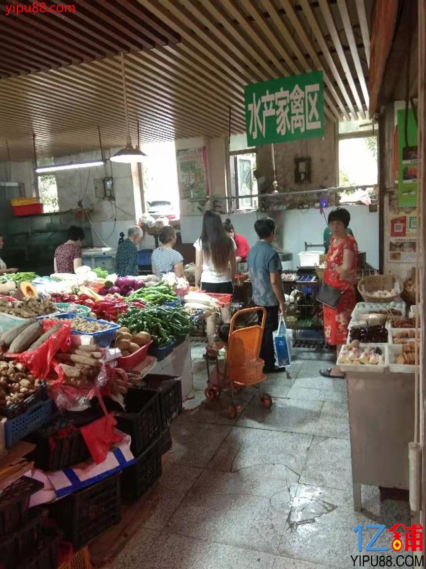 成熟小区菜市场内10㎡独家冷鲜肉可兼营冻货店转让!可空转!