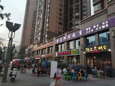 锦江美食街+高端楼盘公寓 超大外摆 餐饮店优转