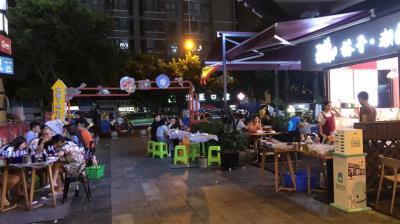 金科双楠天都 夜市出入口 大外摆 小吃夜宵店转让!