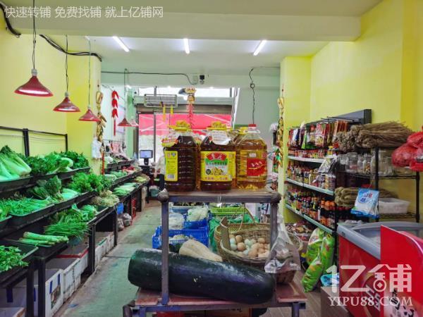 高档小区门口年利40万生鲜超市转让
