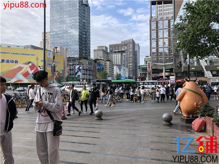 春熙路  十字路口 美食城出入口 冷饮店转(可空)