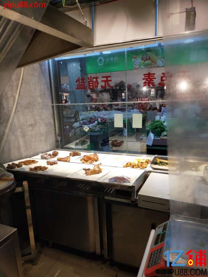 卤菜店转让,晋吉农贸市场内人流量特别大。周边就这一个大型的农贸市场。市场